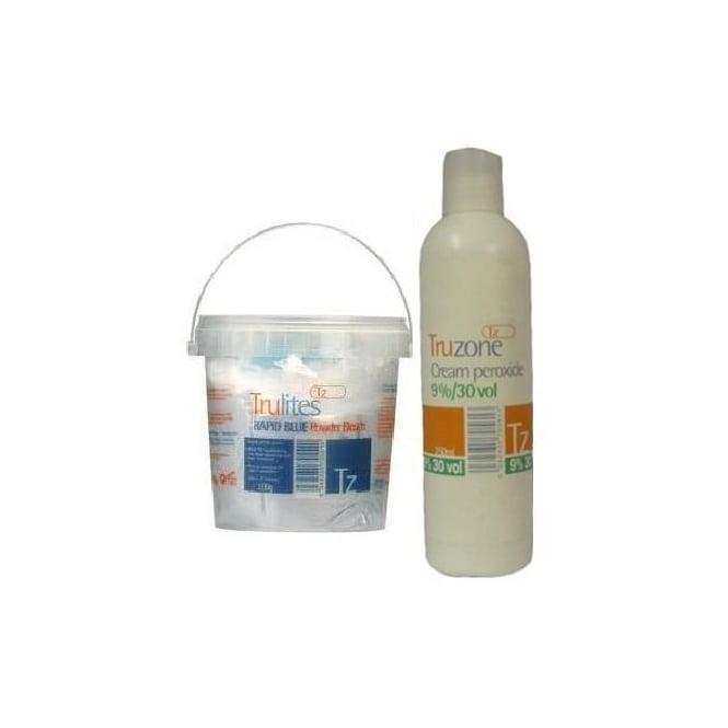Truzone - Trulites Rapid Blue Powder Bleach and 9%/30Vol Cream Peroxide set