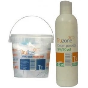 Truzone - Trulites Rapid Blue Powder Bleach and 9%/30Vol Cream Peroxide set
