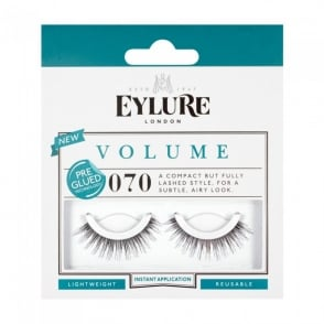 Volume No 070 Reusable Angled Eyelashes Pre Glued (Instant Application)