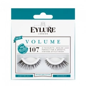 Volume No 107 Reusable Angled Eyelashes Pre Glued (Instant Application)