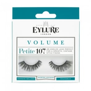 Volume No 107 Reusable Petite Angled Eyelashes (Adhesive Included)