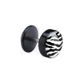 Zebra Print Acrylic Fake Ear Plug